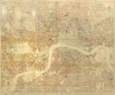 Charles Booth Descriptive Map of London Poverty 1889