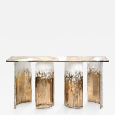 Charles Burnand Cloud Console Made from Hand Silvered Murano Glass