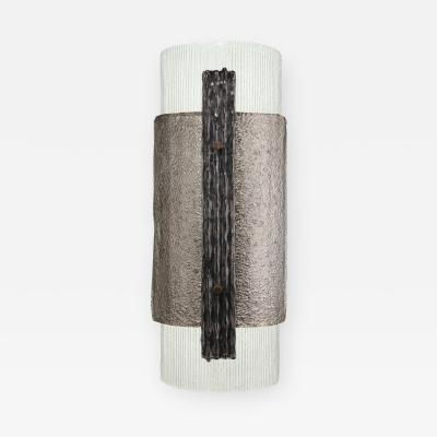 Charles Burnand Elba Sconce in Murano Glass Brutalist Style