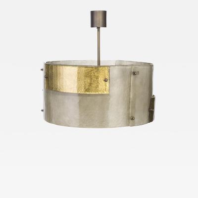 Charles Burnand Luna Piena Drum in Murano Glass Brutalist Style