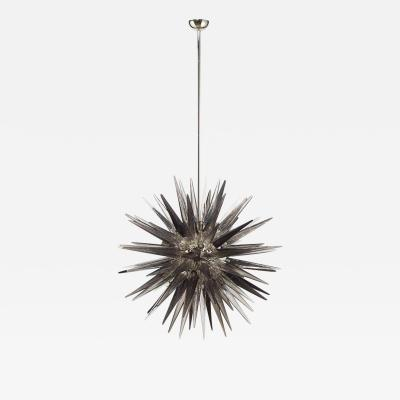 Charles Burnand Murano Glass Sputnik Shard Chandelier