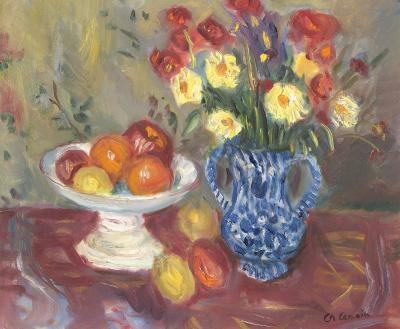 Charles Camoin Nature Morte Vasem Fruits et Fleurs