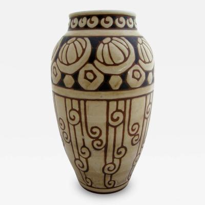 Charles Catteau Art Deco Gres Keramis Vase by Charles Catteau