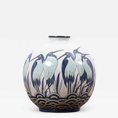 Charles Catteau Art Deco Vase Ad003 2 in Style of Charles Catteau by Keralouve Belgium 1970s