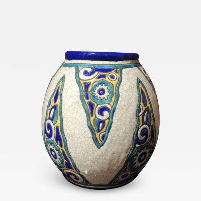 Charles Catteau Art Deco Vase by Charles Catteau for Boch Ceramics Atelier de Fantasie