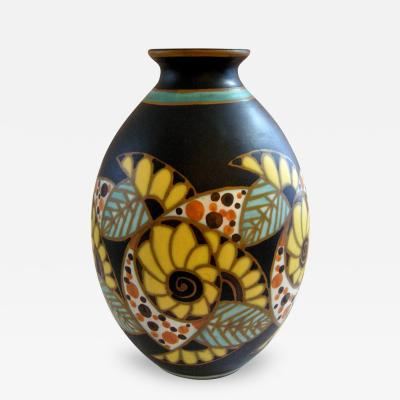 Charles Catteau Art Deco Vase created by Charles Catteau for Boch Freres Keramis