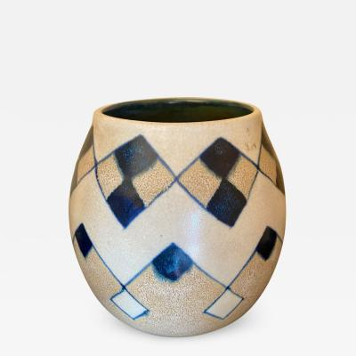 Charles Catteau Catteau Boch Freres Art Deco Geometric Stoneware Vase