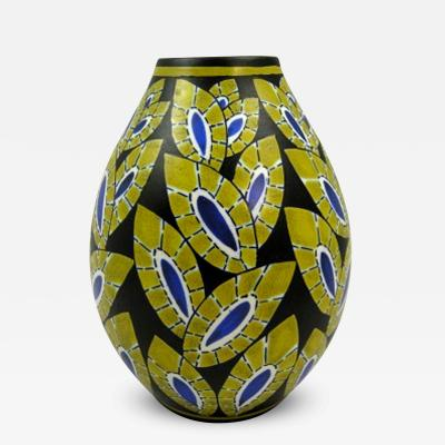 Charles Catteau Early Charles Catteau Vase for Boch Freres Keramis