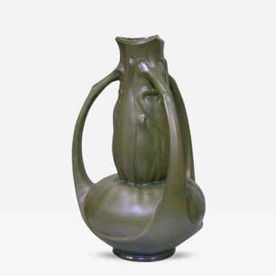 Charles Catteau Exceptional Art Nouveau Iridescent Vase by Catteau