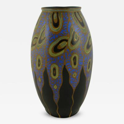 Charles Catteau Rare Art Deco Vase by Charles Catteau for Boch Freres Keramis