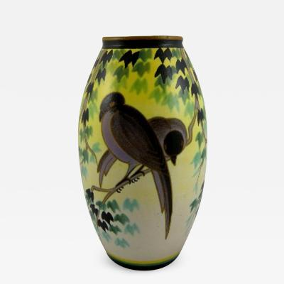 Charles Catteau Rare Boch Freres Keramis Vase by Charles Catteau