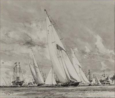 Charles Dixon Charles Dix 108 on R A for King George V Royal Yacht Britannia