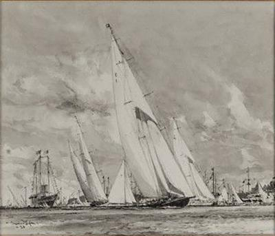 Charles Dixon Charles Dixon 108 on R A for King George V Royal Yacht Britannia