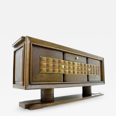 Charles Dudouyt Brutalist Credenza Sideboard by Charles Dudouyt France circa 1940s