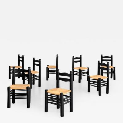 Charles Dudouyt CHARLES DUDOUYT DINING CHAIRS SET OF 8