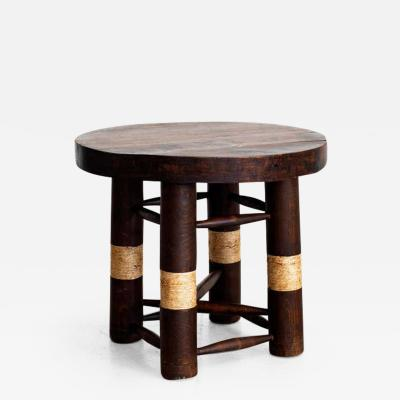 Charles Dudouyt CHARLES DUDOUYT SIDE TABLE WITH ROPE