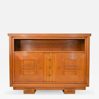 Charles Dudouyt Charles Dudouyt Oak Cabinet 1940 with Secret Space