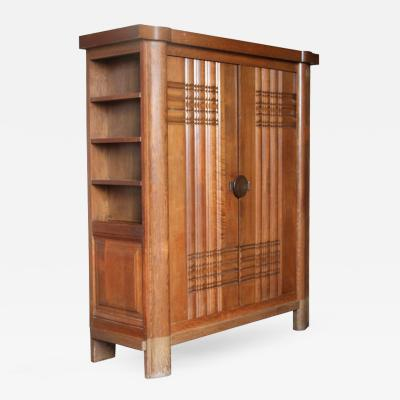 Charles Dudouyt French Art Deco Armoire by Dudouyt