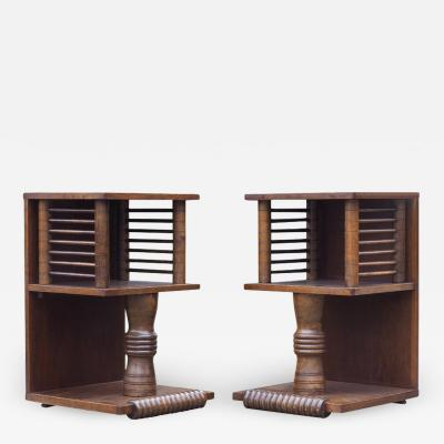 Charles Dudouyt Pair of Charles Dudouyt Tables circa 1930