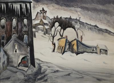 Charles E Burchfield February Dusk