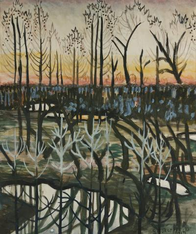 Charles E Burchfield March Pools at Twilight
