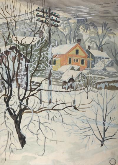 Charles E Burchfield Power Lines and Snow