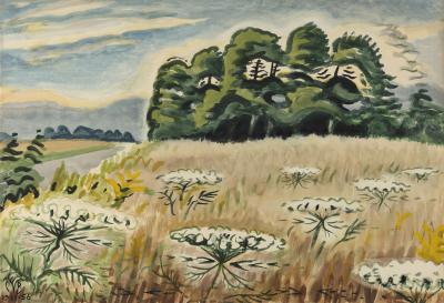 Charles E Burchfield Queen Anne s Lace at Twilight
