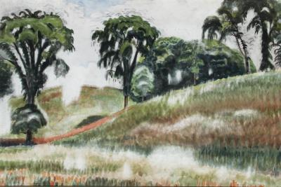 Charles E Burchfield Scene on Windspear Road