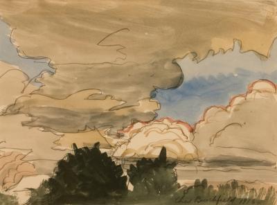 Charles E Burchfield Stormy Landscape