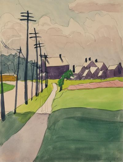 Charles E Burchfield Street Scene