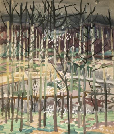 Charles E Burchfield Trees 1917