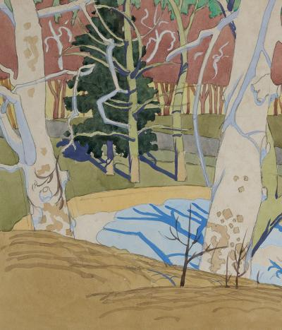 Charles E Burchfield Trees in the Yard