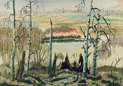 Charles E Burchfield Trotter s Swamp 1920