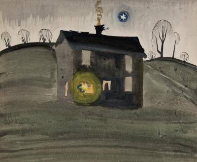 Charles E Burchfield Untitled House on a Hill