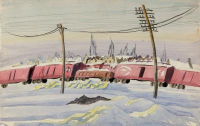 Charles E Burchfield Untitled The Freight Train
