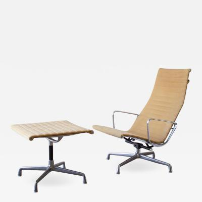Charles Eames Charles Eames Lounge Chair Aluminum Group Series for Herman Miller 1970s Ottoman