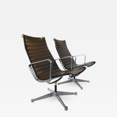 Charles Eames Charles Eames for Herman Miller Aluminium Group Swivel Lounge Chairs