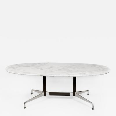 Charles Eames Charles Eames for Herman Miller Aluminum Group Calacatta Marble Table Desk