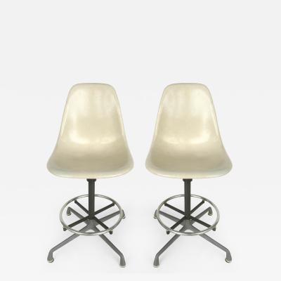 Charles Eames Charles Eames for Herman Miller Bar Counter Stools in Molded Fiberglass c1960s