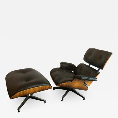 Charles Eames Charles Eames for Herman Miller Lounge Chair And Ottoman New Fine Leather