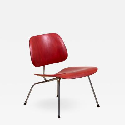 Charles Eames Early LCM Chair in Rare Aniline Red by Charles Eames for Herman Miller
