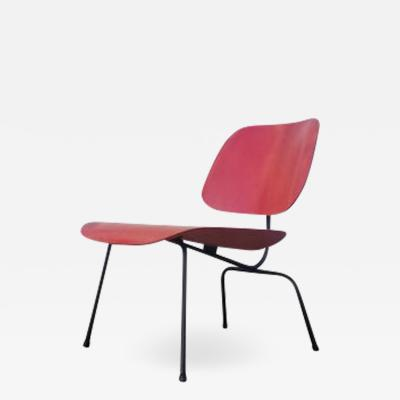 Charles Eames Early LCM Red Aniline Dyed by Charles Eames for Herman Miller
