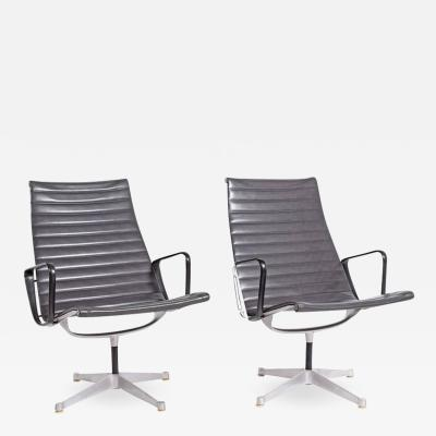 Charles Eames Early Production Aluminum Group Lounge Chairs by Charles Eames