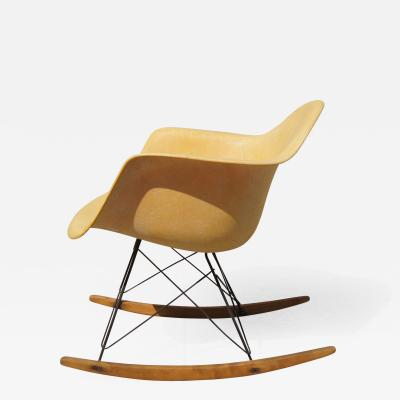 Charles Eames Early Rope Edge Fiberglass Rocker by Charles Eames for Zenith Herman Miller