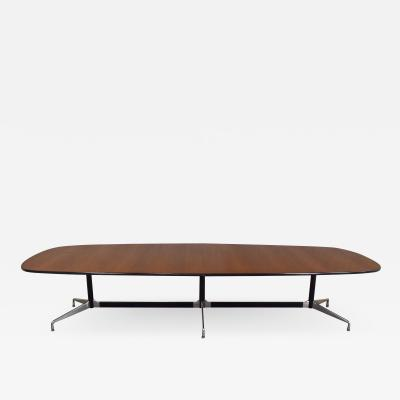 Charles Eames Extra long segmented universal base 2 piece elliptical table by eames