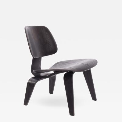 Charles Eames LCW early Charles Eames easy chair original analine black