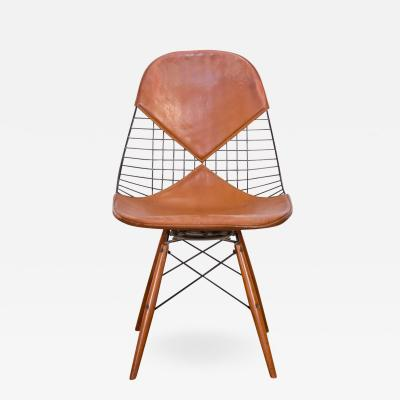 Charles Eames Original Eames PKW 2 Wire Chair on Dowel Swivel Base