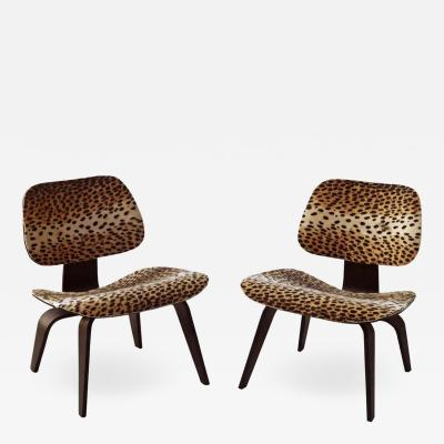 Charles Eames Pair of Charles Eames for Herman Miller LCW Lounge Chairs