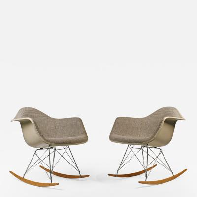 Charles Eames Rocking Chairs by Charles Eames for Herman Miller with Alexander Girard Textile