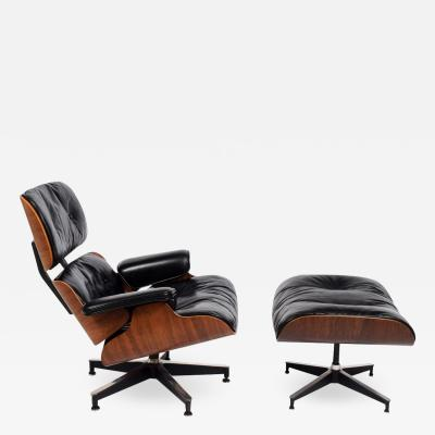Charles Eames Rosewood Lounge Chair and Ottoman 670 671 by Charles Eames for Herman Miller